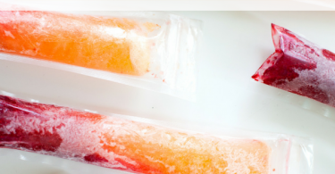 Frozen Prosecco Raspberry Peach Pops