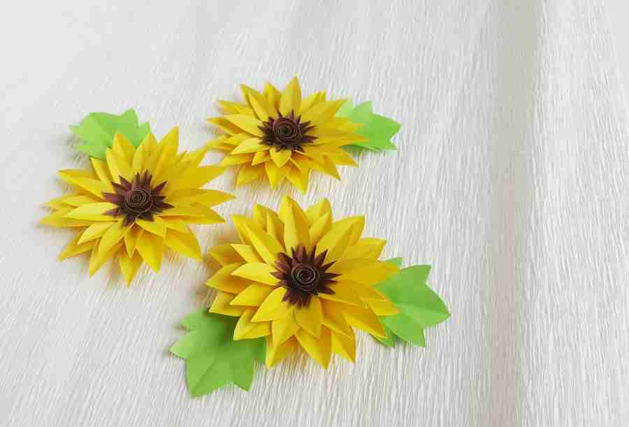 Easy Paper Sunflowers Craft