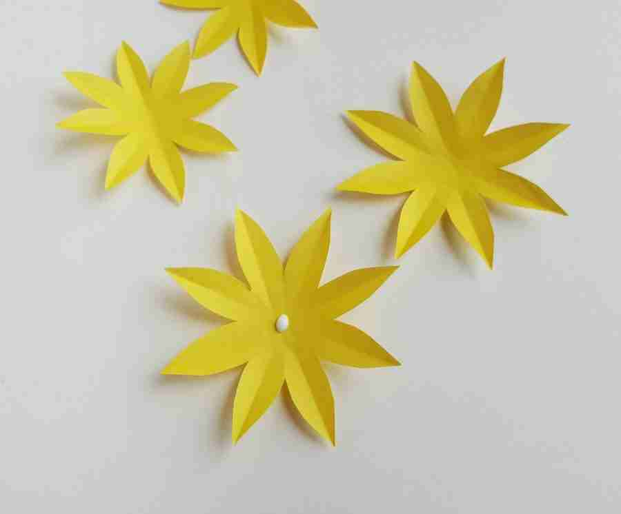 How to Make Paper Sunflowers Step by Step Tutorial