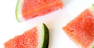 Strawberry Tequila Soaked Watermelon Slices