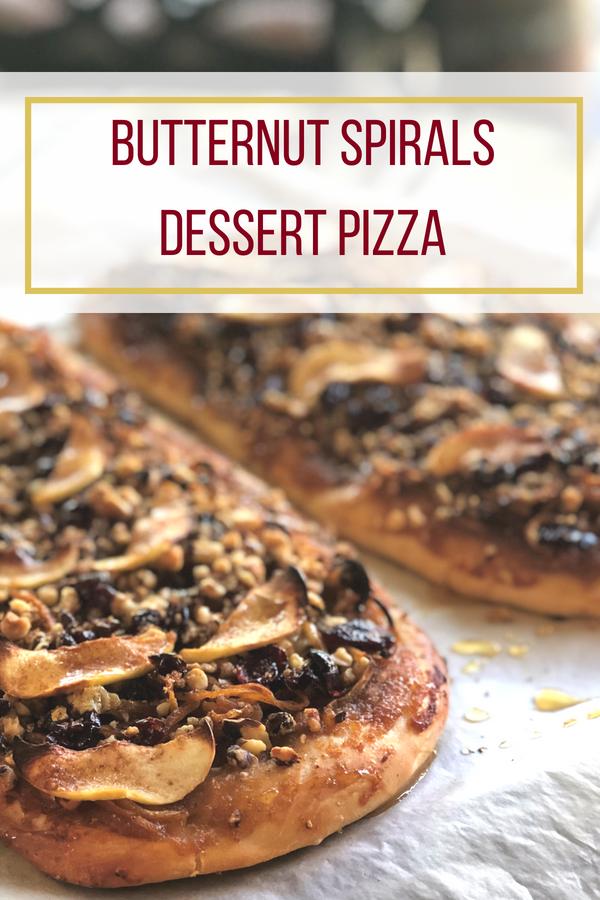 Sweet & Savory Butternut Spirals Dessert Pizza