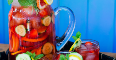 Sparkling Pimm's Gin Punch