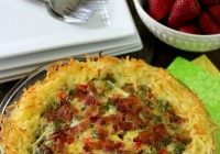 Today's Daily Dish Recipe is Breakfast Pie with Hash Brown Crust.