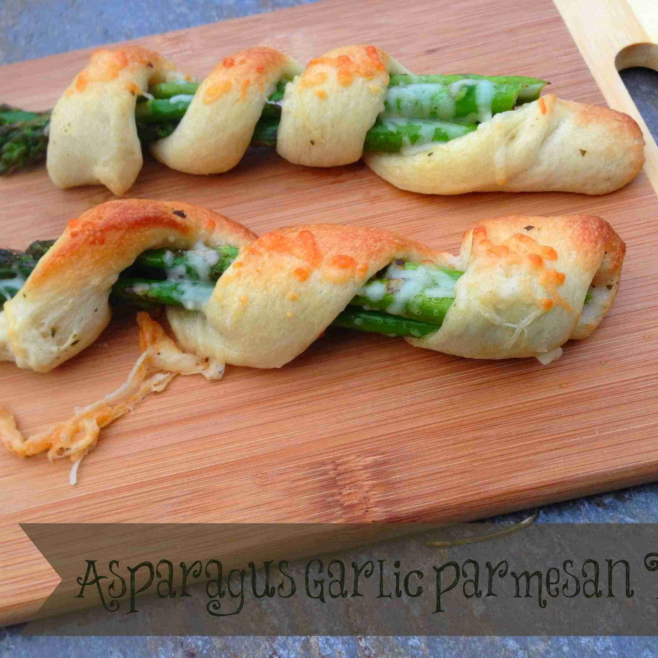 Asparagus Garlic Parmesan Twists