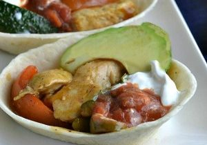 Today's Daily Dish Recipe is Chicken Fajita Boats.