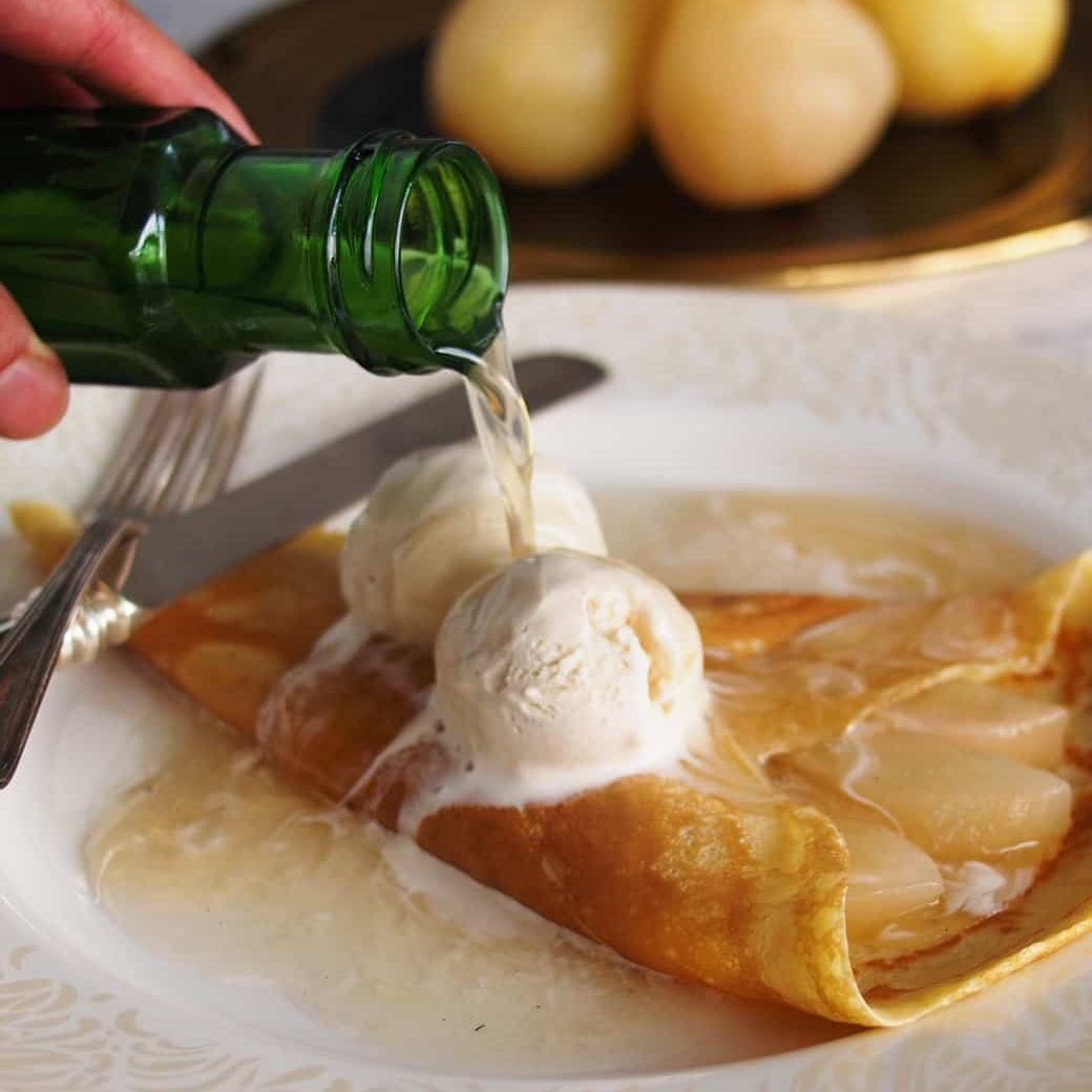 Champagne Pear Crepes | The Worktop