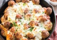 Today's Daily Dish Recipe is Easy Italian Meatball Skillet Bake.