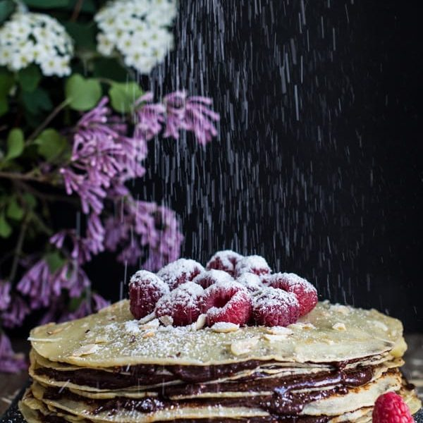 Nutella Crepe Cake | Green Healthy Cooking