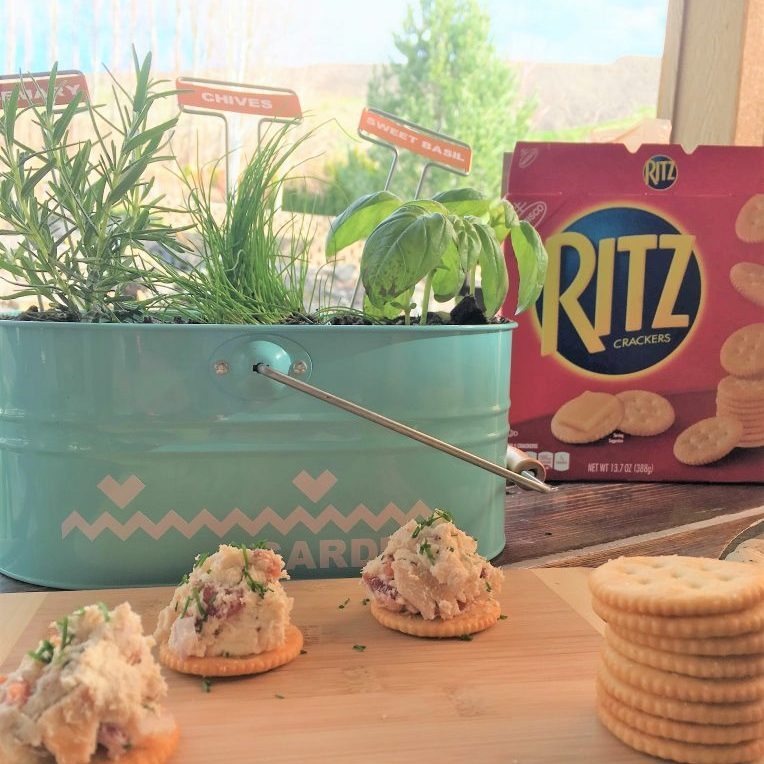 Fresh Spring Bites with RITZ Crackers & Rosemary Chicken Spread