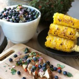 Grilled Chicken with Blueberry Lime Salsa