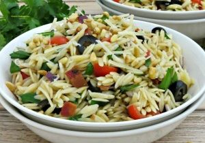 Today's Daily Dish Recipe is Italian Orzo Pasta Salad.
