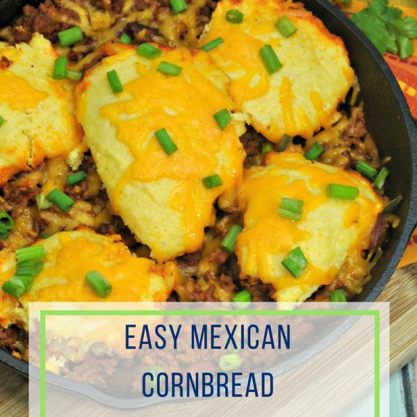 Easy Mexican Cornbread Skillet Dinner Recipe