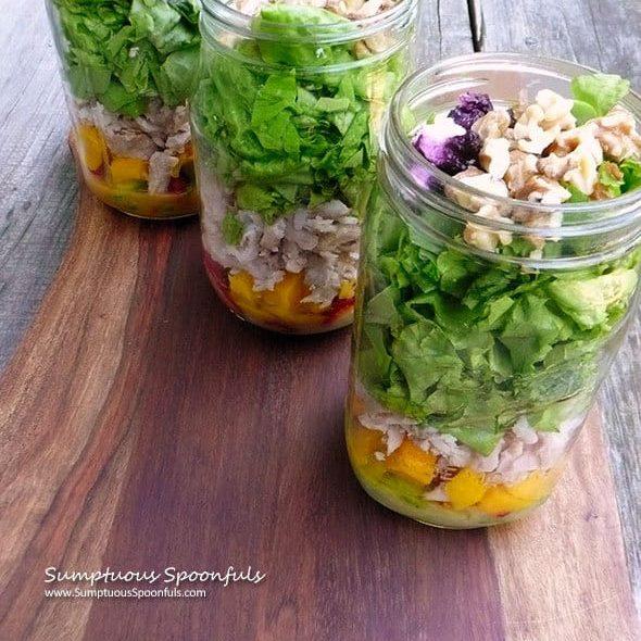 Mango Pork Salad in a Jar