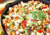 Mexican Quinoa Skillet Dinner Recipe via Cooking on the Front Burner
