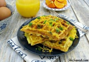 Today's Daily Dish Recipe is Omelet Waffles.