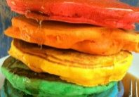 Today's Daily Dish Recipe is Rainbow Pancakes