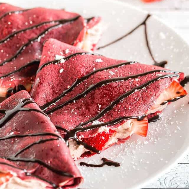 Red Velvet Crepes | Tastes of Lizzy T
