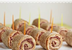 Today's Daily Dish Recipe is Reuben Tortilla Pinwheels.