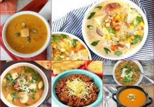 Soups and Chili FEATURED photo from Walking on Sunshine Recipes