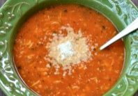 Today's Daily Dish Recipe is Tomato Basil Chicken Soup.