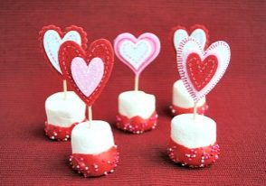 Today's Daily Dish Recipe is Valentine's Day Marshmallow Pops.