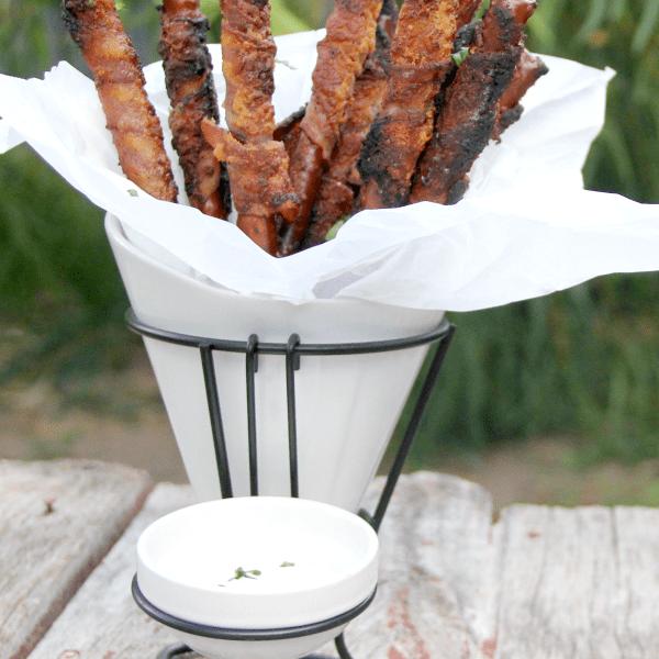 Bacon Wrapped Ranch Pretzels