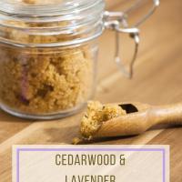 Cedarwood Lavender Brown Sugar Scrub