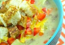 Our first Daily Dish Recipe for this week is Cheeseburger Soup!