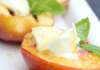 Grilled Peaches with Mascarpone - Daily Dish Recipe