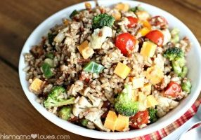 Today's Daily Dish Recipe is Multi Grain Veggie Medley Salad