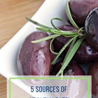5 Sources of Healthy Fats
