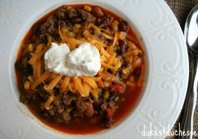 Today's Daily Dish Recipe is Easy Taco Soup.