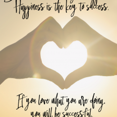 Happiness is the Key to Success Free Printable Art