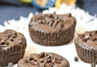 Vegan 4 Ingredient Gluten Free Chocolate Muffins
